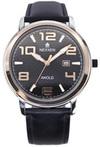 Японские часы Nexxen NE12803M PNP/RG/BLK/BLK Коллекция Anold 12803