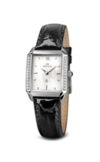 Швейцарские часы Seculus 1676.2.762 mop, ss swarovski stones, black leather Коллекция 1676