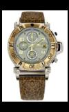 Японские часы Nexxen NE10902CHM 2T/SIL/BRN Коллекция Anold 10902
