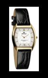 Швейцарские часы Seculus 1613.1.106 white, pvd, black leather Коллекция Fascination Shape