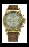 Японские часы Nexxen NE10902CHM GP/SIL/BRN Коллекция Anold 10902