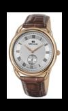 Швейцарские часы Seculus 4483.2.1069 pvd-r case, white dial, brown leather Коллекция Vivaldi