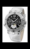 Швейцарские часы Seculus 1690.5.706 black, ss with stones, white leather Коллекция Emir & Emirette