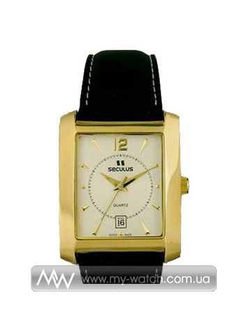Часы 4419.1.505 white ap-g, pvd, black leather